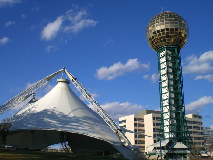 5. Take in the view from the Sunsphere observation deck in Knoxville.