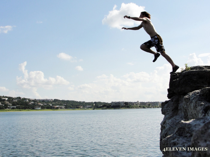 5. The view of Lake Travis when you're cliff diving off of Pale Face cliff.