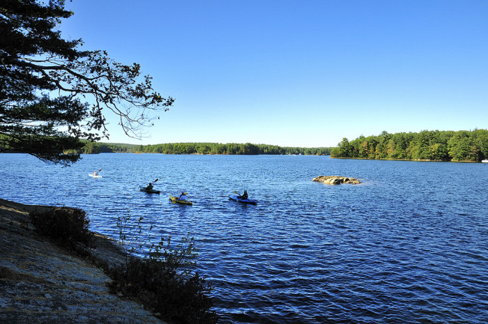 7. Mashapaug Lake in Union is surrounded by Bigelow Hollow State Park and Nipmuck State Forest, which is probably why it's so serene.