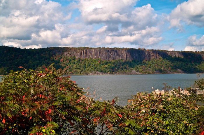 Views of New Jersey's Palisades from New York City.