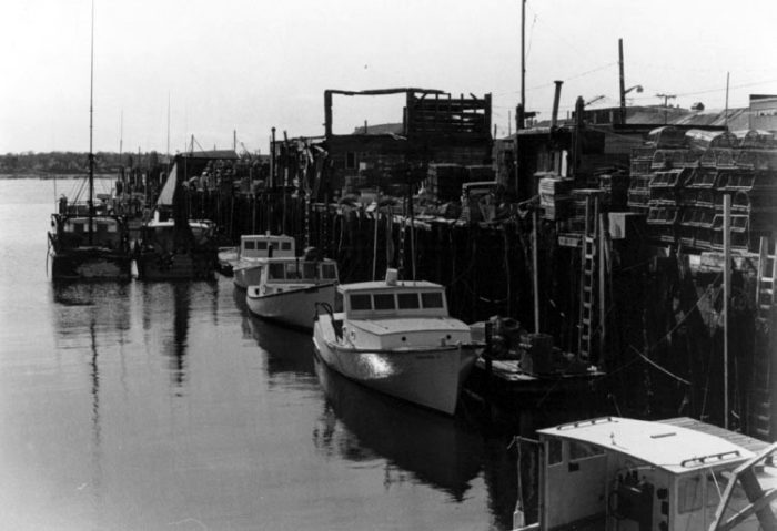 2. Boats at the working waterfront in Portland, 1978.