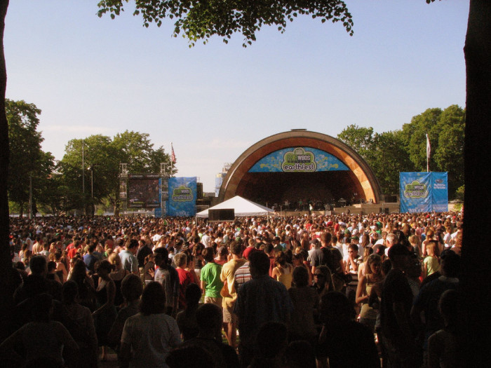 14. Watch a show at the hatch shell, Boston.