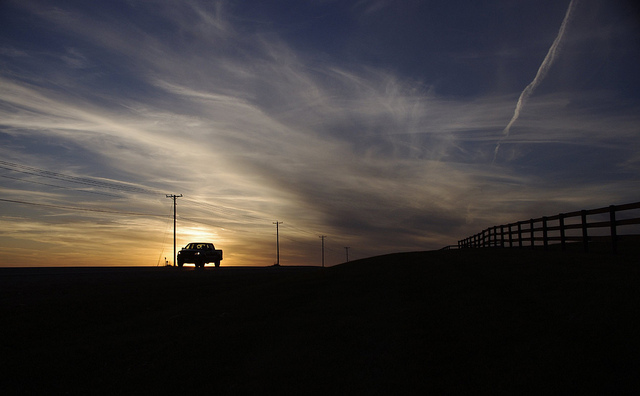 10.  When all else fails, drive out to the middle of nowhere and watch the sunset from the back of your pickup.