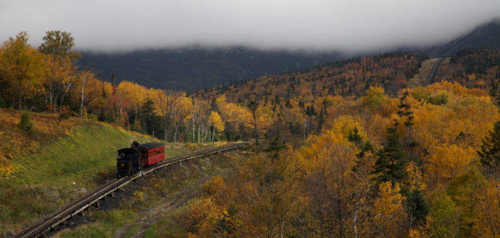 Steam Locomotive on Mount Washington Cog Railway