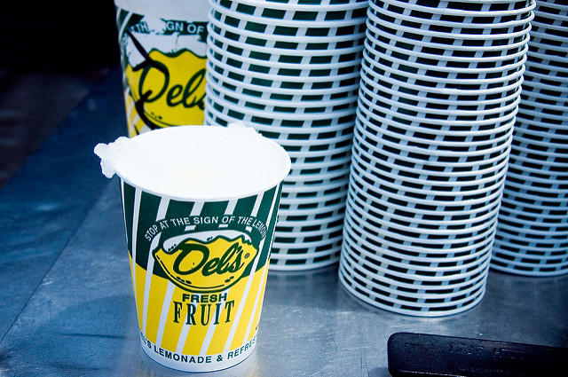 1. We've all ordered a delicious and much needed Del's Lemonade on a hot summer's day.