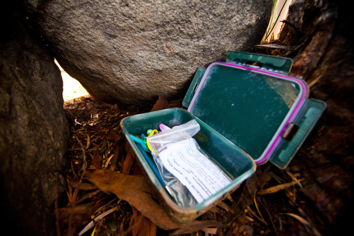 1. Find (and hide your own)  geocaches.