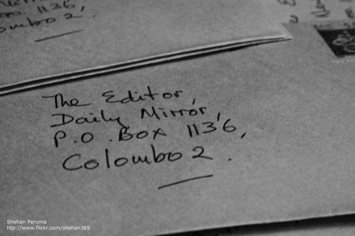 9. And writing letters to the editor to express opinions.