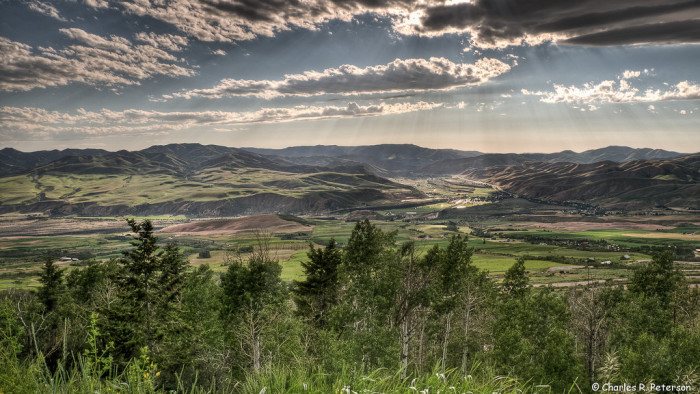 9. Idaho's Portneuf Valley is captured from the Pebble Creek Ski Area.