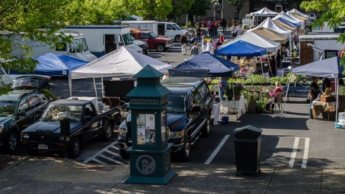 8. Saturday morning means a bustling farmers market