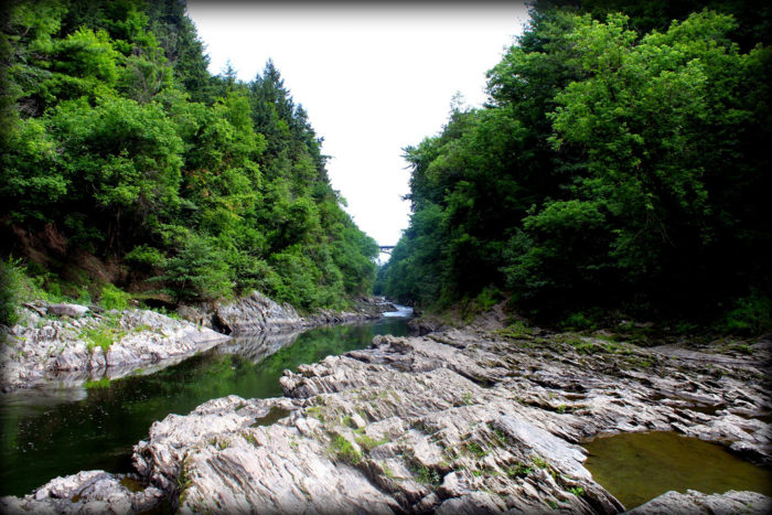 11.  Hike along the bottom of the Quechee Gorge.