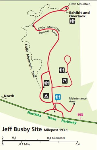 Since Little Mountain Trail is a point to point trail, it can be accessed from two different starting points. Hikers can begin their trek at Jeff Busby Campground or the Little Mountain Overlook.