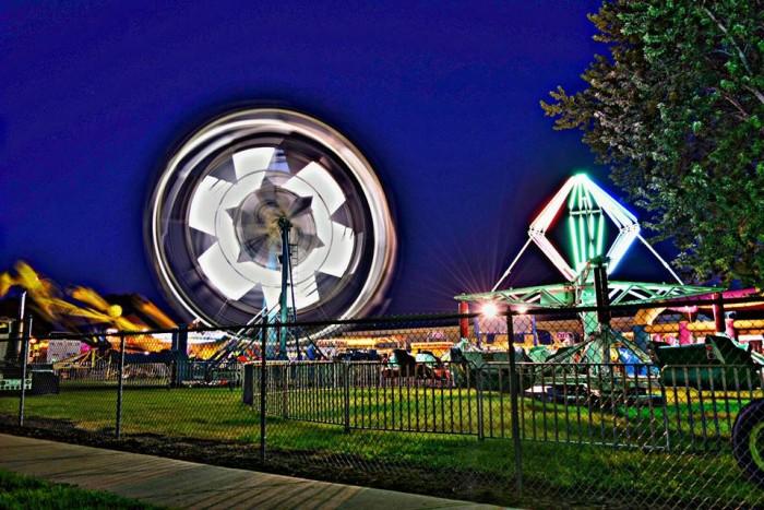 7. Warm July nights at the county fair.