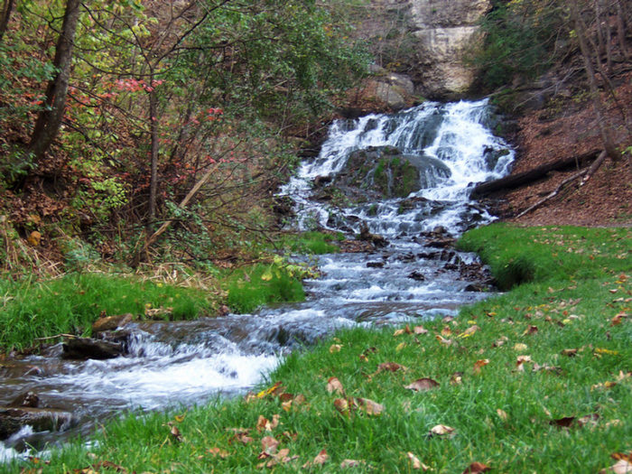 Discover one of Decorah's beautiful waterfalls, such as Dunnings Spring Falls, shown above. Don't forget to pack a picnic to enjoy as you relax by the waterside.