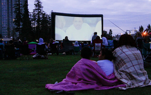 6. Check your community calendar for free outdoor movies.