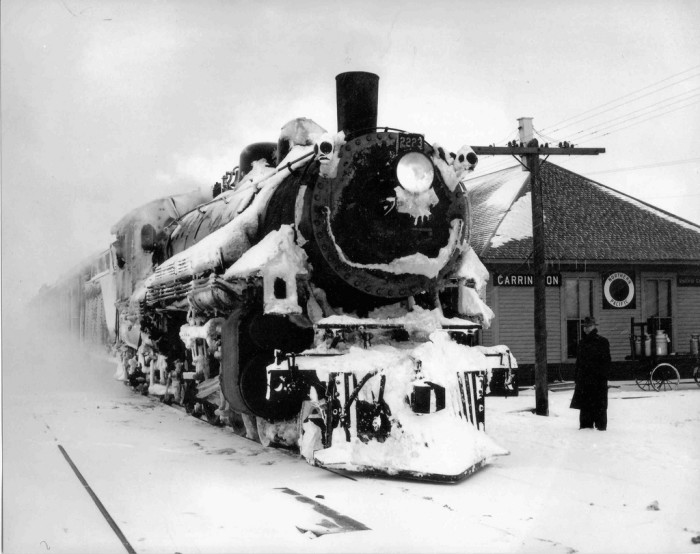 10. Train stationed in Carrington, ND - 1948