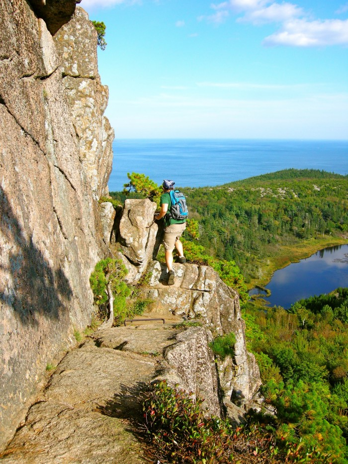 2. A more precarious portion of Acadia's Beehive Trail.