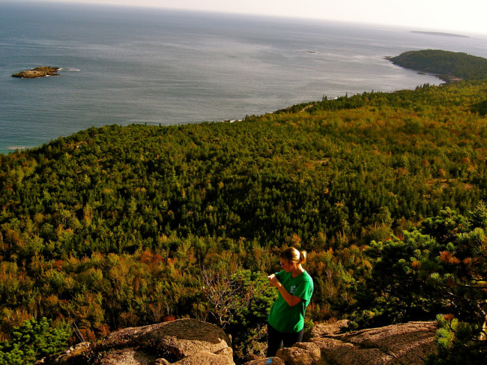 5. The short, but steep Acadia Beehive Trail.