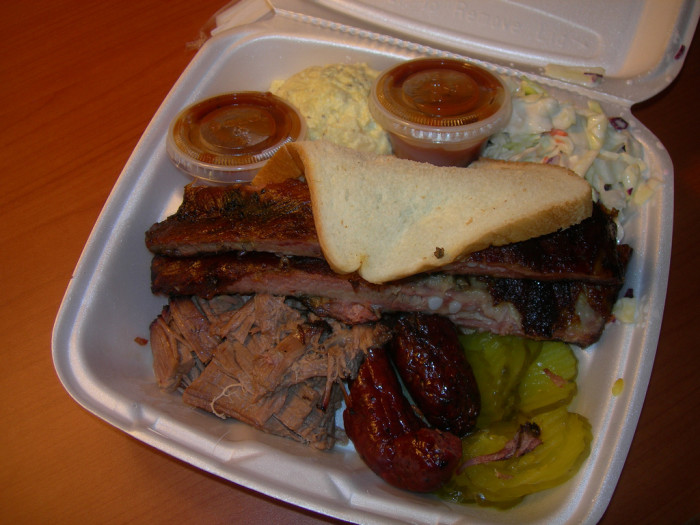 14. A chill, laid-back old BBQ joint of Austin - The Green Mesquite.