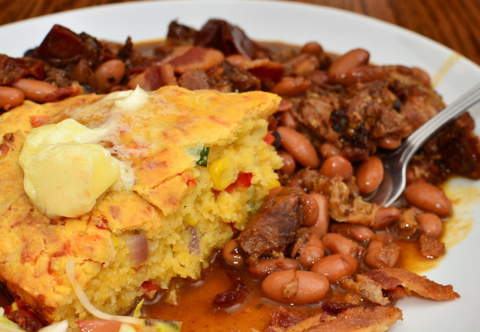 3. Cornbread And Pinto Beans