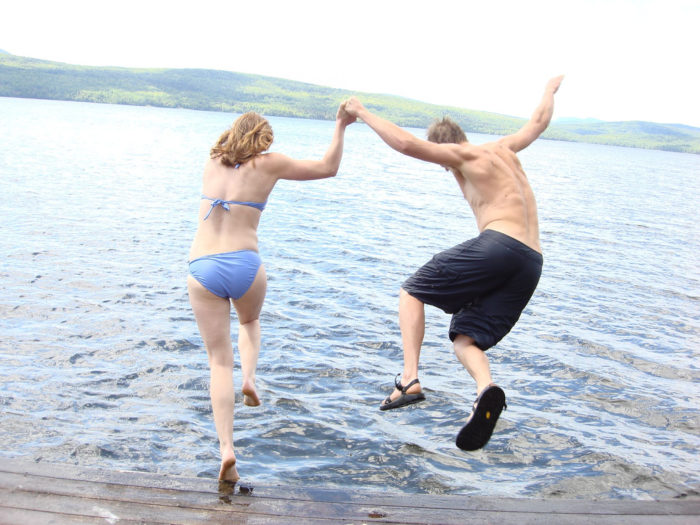 3. There is nothing – NOTHING – as refreshing as your first springtime jump in the lake.