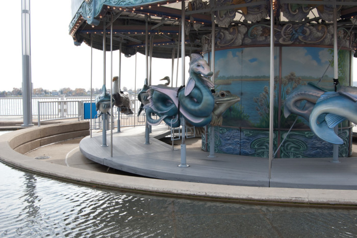 Here, the Cullen Family Carousel at Rivard Plaza on the RiverWalk.