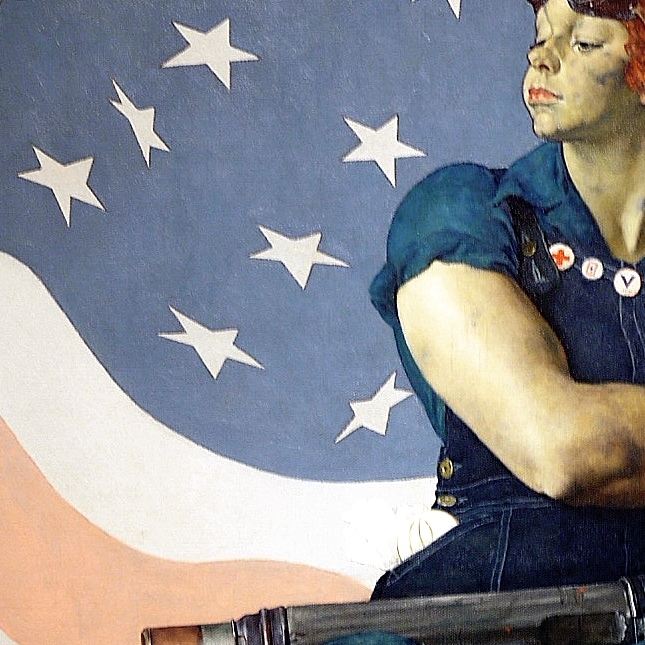 14.We can't forget about Norman Rockwell's Rosie the Riveter.