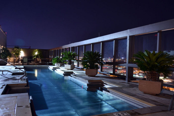 5. A cool beverage, light fares, and laying poolside with views of the city...Get all of this at Omni Hotel on 8th Street.