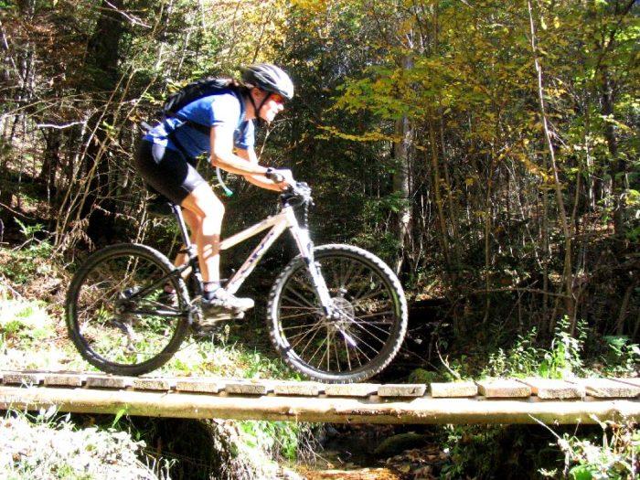 1.  Take your bike on the kingdom trails.