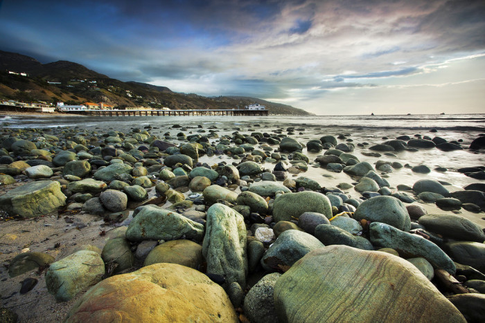 5. The scattered rocks along the beach in Malibu show off a rugged side of beauty in  SoCal.