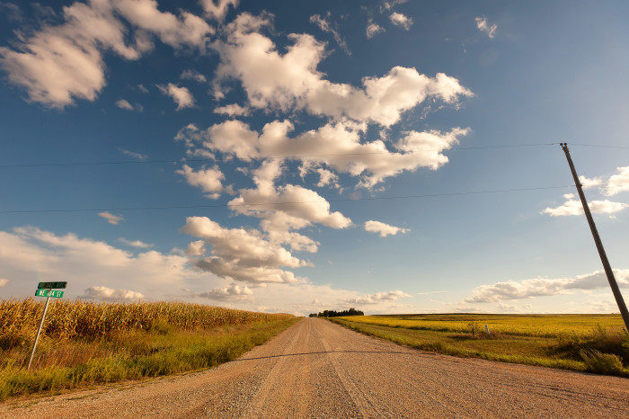 8. Slow cruises down gravel roads just before sunset.