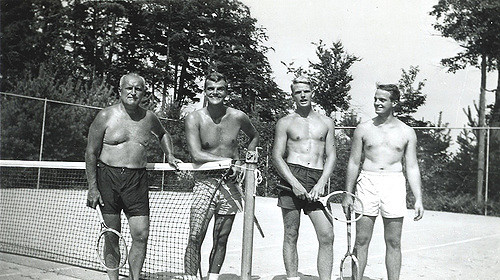 A game of tennis is always a fun summer activity – followed by a jump in the lake of course!