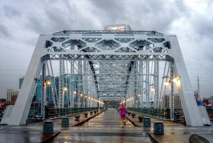 7. Spout romantic nothings on the Pedestrian Bridge.