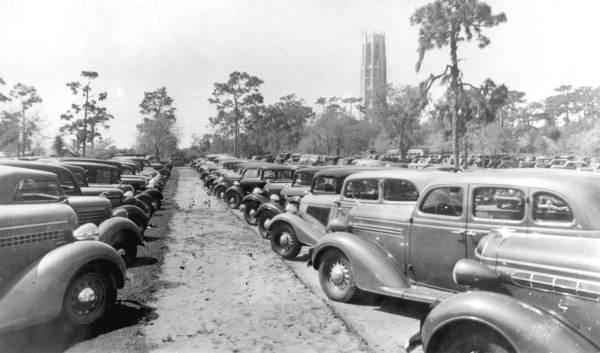 5. Parking lot at Bok Tower: Lake Wales, Florida, 1935