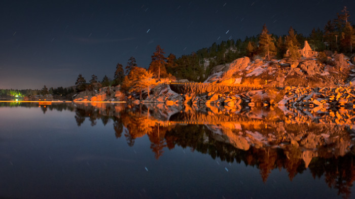 9. Big Bear Lake is captivating day or night.