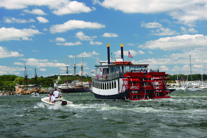 1. Hop on a genuine paddleboat and cruise the harbor in style.