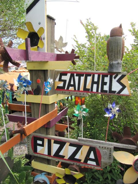 5. Salad (and pizza) at Satchel's