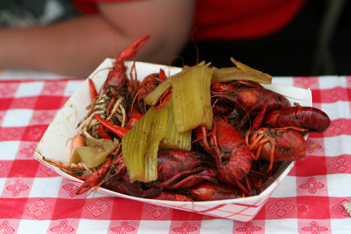 10) Boiled Crawfish