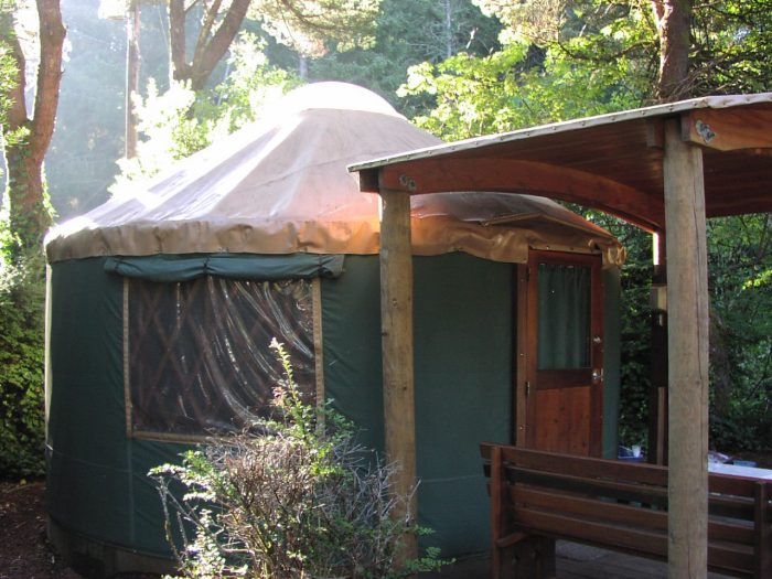 """10. Go """"glamping"""" in a yurt."""