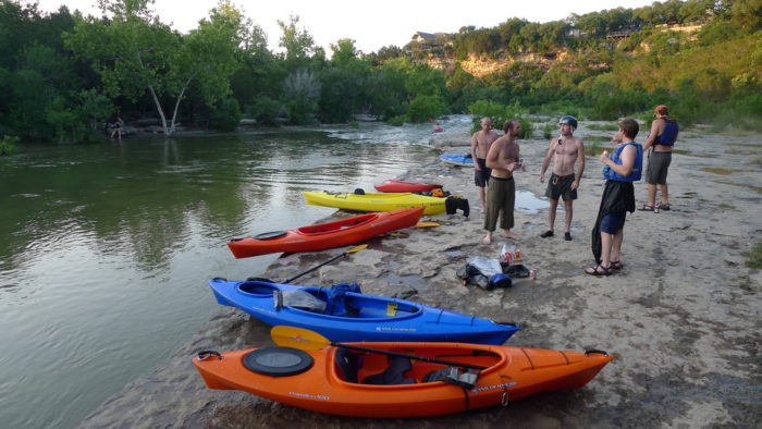 10. Grab some friends, drinks, and food for a picnic on the move...kayaking!