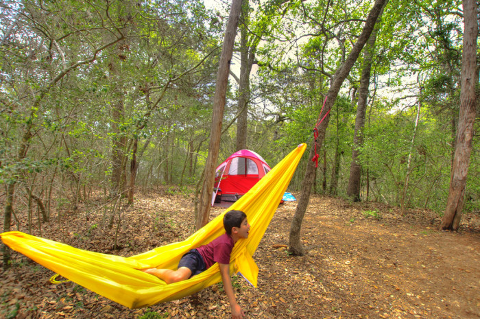 10. Go camping with the family at Buescher State Park - Looks like so much fun!