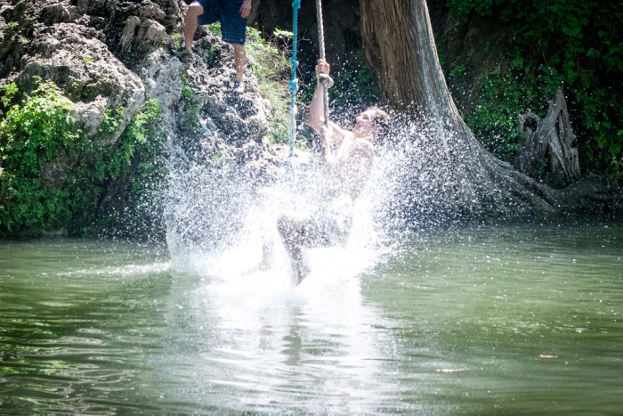 2. Krause Springs is a great place to cool off on hot summer days!