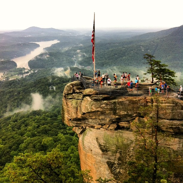 9. How can you not feel romantic snuggling up with your sweetie and witnessing a view like this from Chimney Rock?
