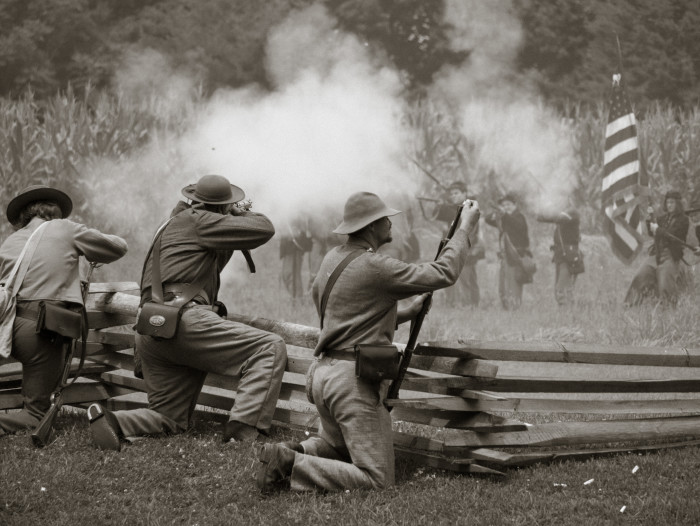 13. This shot of a Civil War reenactment in Frederick could be straight out of a history flick.