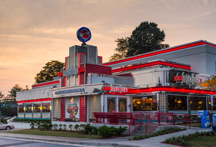 3. This photo of the Silver Diner has a 1950s movie vibe. Wanna go steady?