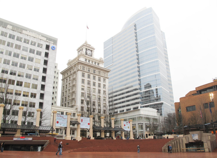 8. Pioneer Courthouse and the Portland Pioneer Square