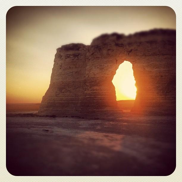 13. Monument Rocks peek-a-boo