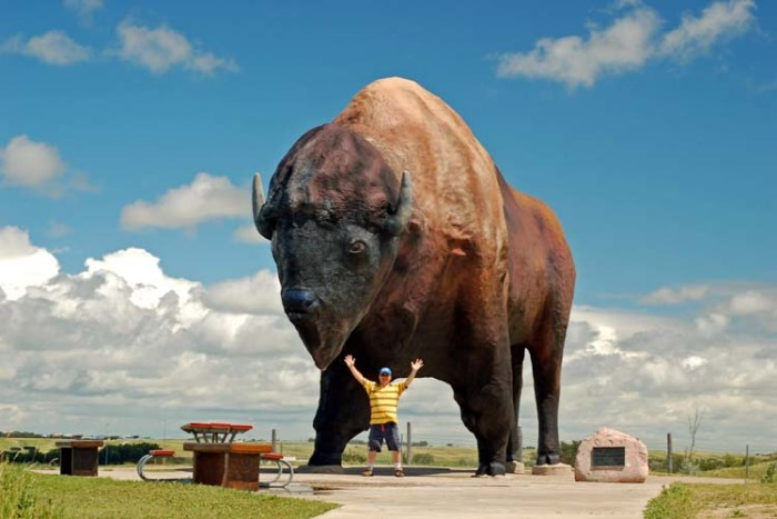 1. The World's Largest Buffalo statue weighs almost 60 tons.