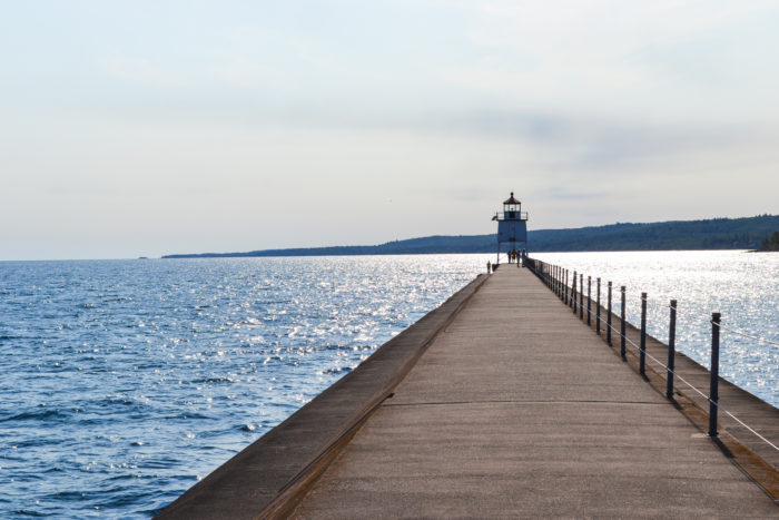 No visit to Two Harbors is complete without completing a walk along the breakwater.
