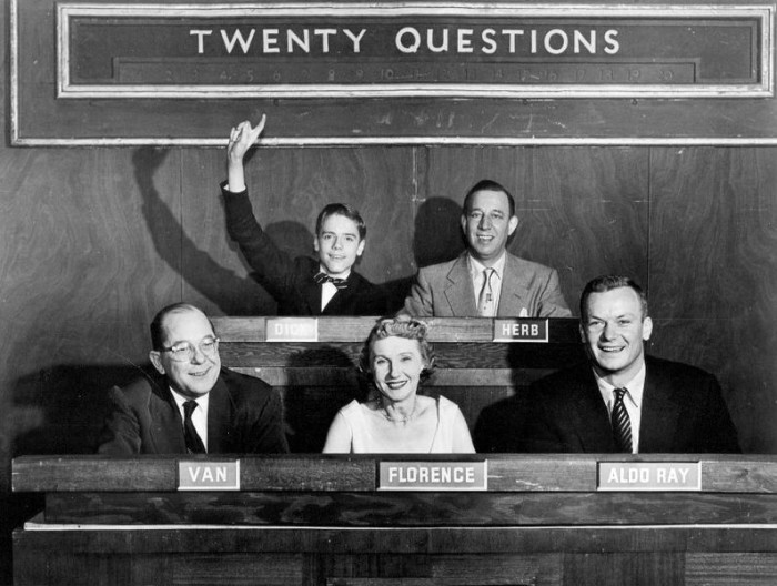 1. Game shows sure have come a long way! Here you can see a game show from the mid 1950's that actually began on the radio.
