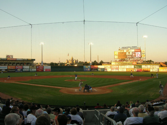 8. Cheer on the Iowa Cubs at Principal Park in Des Moines.